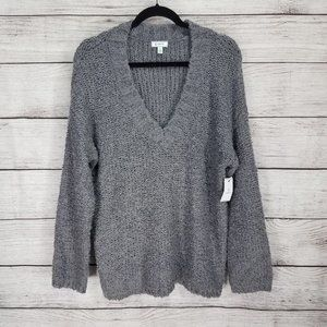 NEW Susina L V-neck Boucle Knit pullover sweater